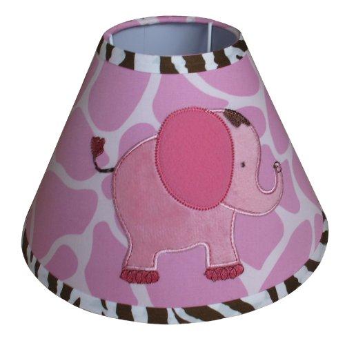 Lamp Shade for Pink Safari Baby Bedding Set By Sisi ()