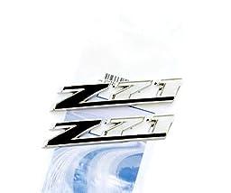 Yoaoo®2x OEM Chrome Black Z71 Emblems for GMC Chevy Silverado Sierra Tahoe Suburban