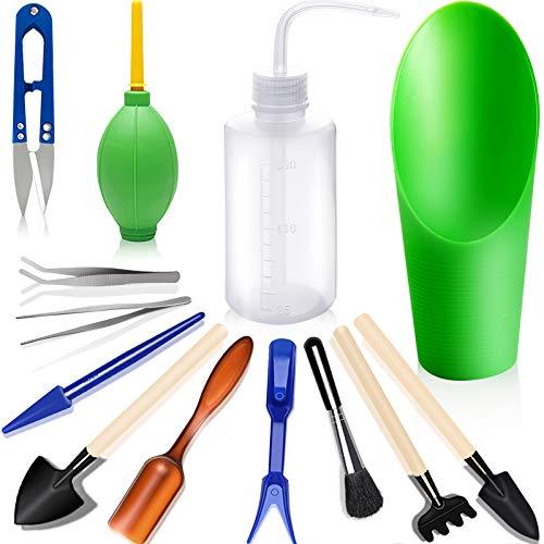 Mini herramientas de jardinería p/suculentas set x 13u.
