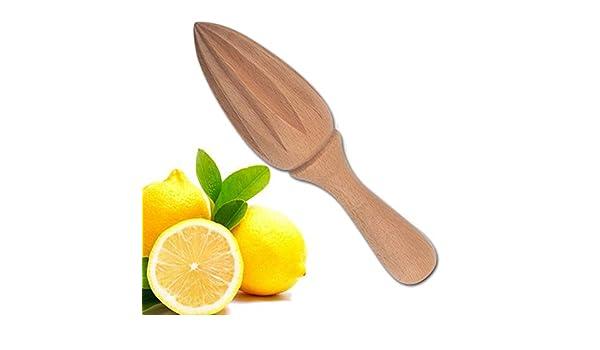 AMHDEE Creativo de Madera Manual de Lim/ón Orange Exprimidor de Prensa de la Mano Exprimidor Zumo de Fruta de Naranja Extractor Escariadores Diez Esquina Dise/ño Novedades para la Cocina