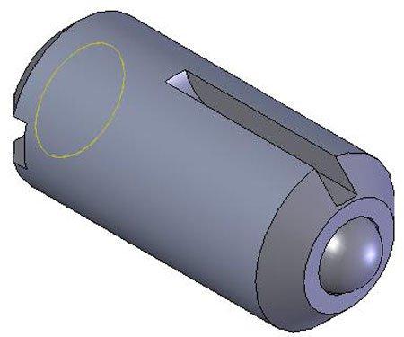 End force-40.46 lbs. Kipp KBP-241 Slotted Long-Lok Thread All-Steel Ball Plunger 5//8-11 x .94