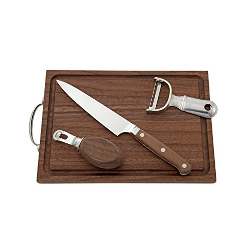 sa Professional Barware/Bar Tools by Charles Joly, Bar Tool Gift Set; Bar Knife, Bar Board, Peeler and Channel Knife (Twist Table Knife)
