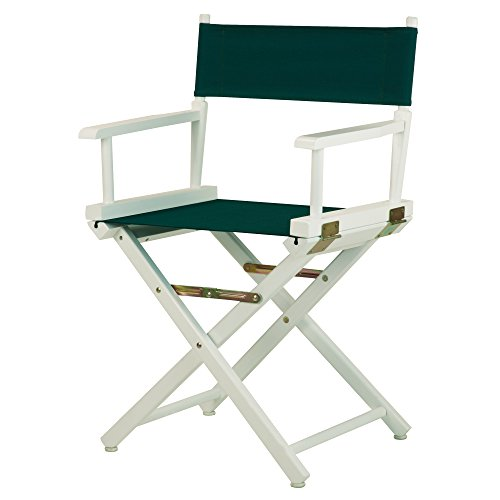 Casual Home 18'' Director's Chair White Frame with Hunter Green Canvas by Casual Home