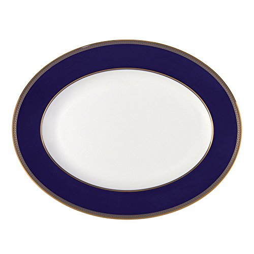 "Elite Dinnerware Collection (Renaissance Gold Oval Platter 13.75"")"