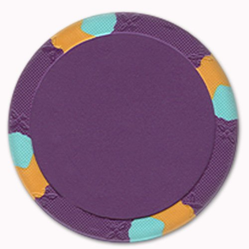 UPC 886511346468, Trademark Poker NexGEN Lucky Bee Large Label 3 Tone Poker Chips (Set of 50), 12.2gm, Purple