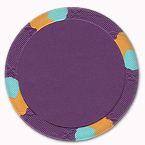 UPC 886511346468, Trademark Poker NexGEN Lucky Bee Large Label 3 Tone Poker Chips (Set of 50), 12.2gm, Purple