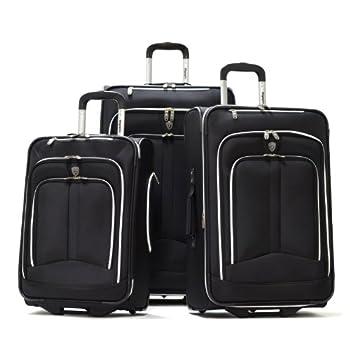 Image of Olympia Luggage Hamburg 3-Piece Luggage Set,Black,One Size Luggage