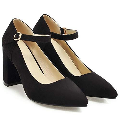 Melady Black Pumps Block Women High Heel Fashion rqYrwOA