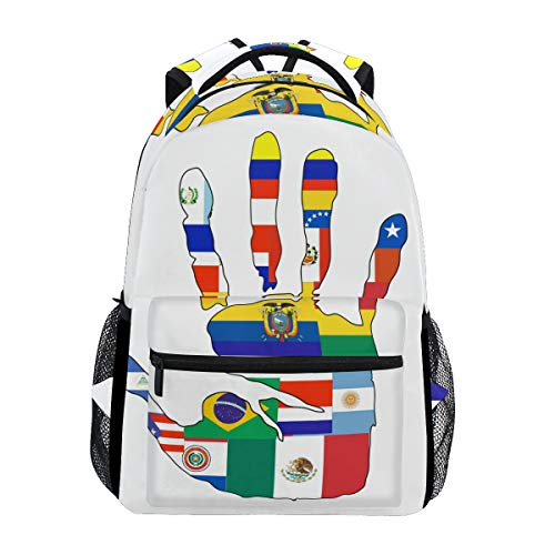 IMOBABY Mexican Culture Clipart School Backpack Book Bag Travel Daypack ()
