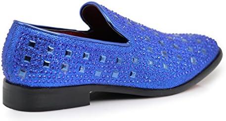 Royal blue mens loafers _image3