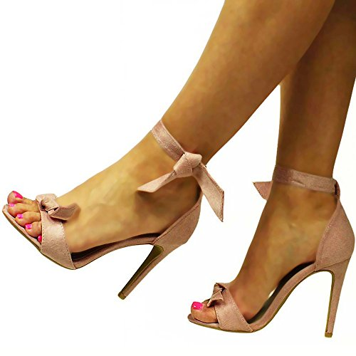 Damenschuhe Elegante Luxus Party Pumps Sandaletten High Heels Rosa