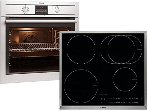 AEG BP31966 Set Pyrolyse Backofen BP3003001M + Induktion Glaskeramik Kochfeld HK6542H1X-B