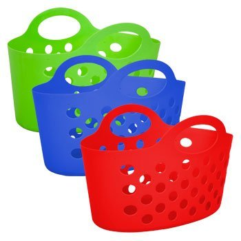 Plastic Baskets With Handles (Assorted Multicolor Basket with Handles)