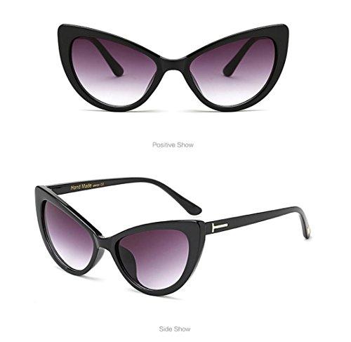 Gato Mujer para Diseño Gafas C B de Vintage de Ojo Sol de Hunpta qxzW1n1