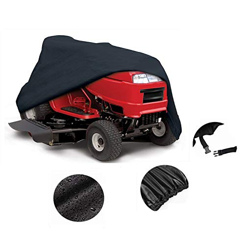 Mower Cover - Heavy Duty Riding Lawn Tractor Cover 600D Polyester Oxford UV Protection,Waterproof with Cover Storage Bag ()
