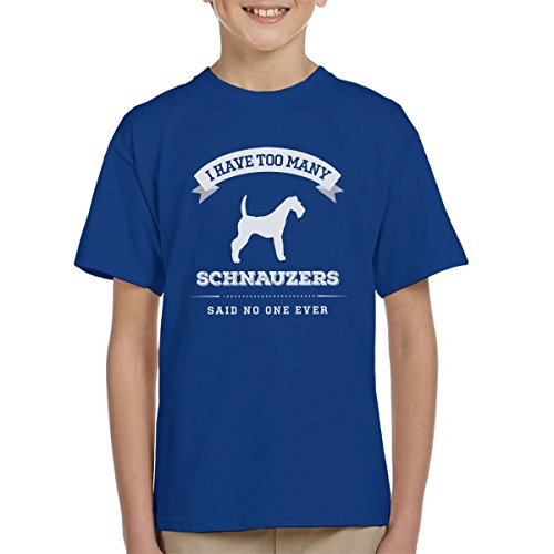 i-have-too-many-schnauzers-said-no-one-ever-kids-t-shirt