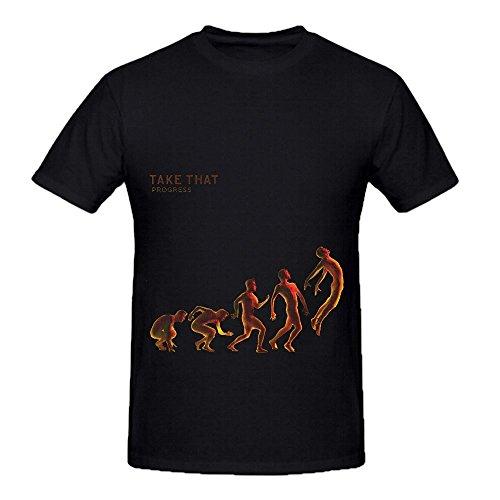 Take That Progress Greatest Hits Men Crew Neck Casual T Shirts Black