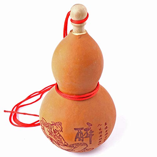 (Wadbeev Dried Gourds Wine Bottle Old Calabash Tall Hollow Pumpkins Home Decor Retro Decor Farmhouse Seize The Day Get Drunk)