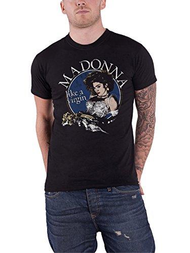 Madonna T Shirt Like A Virgin Official Mens Black, M to XL
