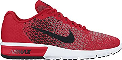 Nike Men's Air Max Sequent 2 Running Shoes (11 D(M) US, University Red/Black/Cool Grey/Black)