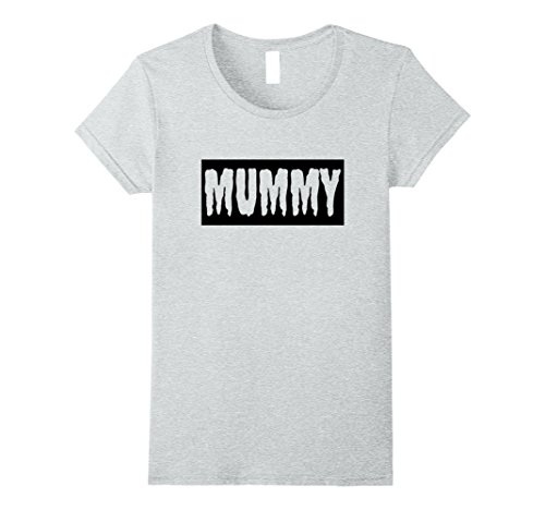Female Pirate Outfit Ideas (Womens FUNNY HALLOWEEN MUMMY T-SHIRT [OUTFIT & COSTUME/GIFT IDEA] Large Heather Grey)