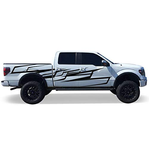 Bubbles Designs Decal Sticker Vinyl Racing Stripes Wrap Compatible With Ford F150 Regular Cab 2014 2018