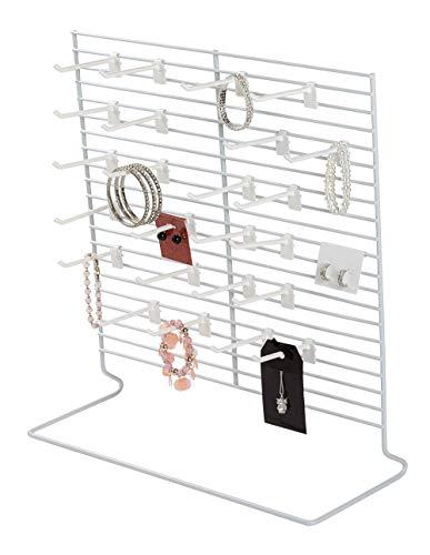 SSWBasics 24-Peg White Wire Countertop Rack - 18
