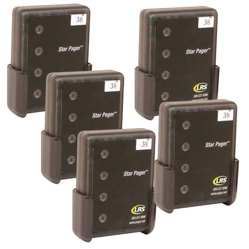 Long Range Systems ADD-STAFF6-10 Set of Five Server Pagers for Server Paging System