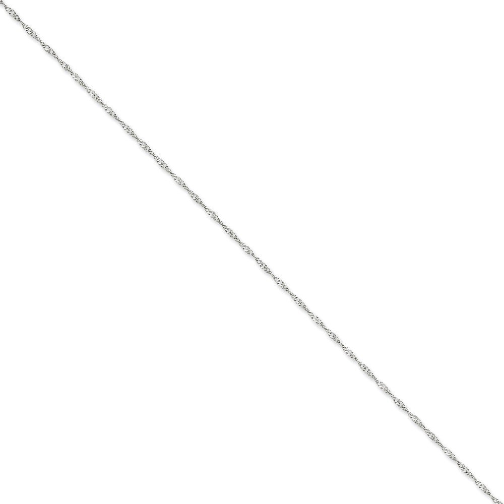 Jewels By Lux 14K White Gold 1.4mm Singapore Chain