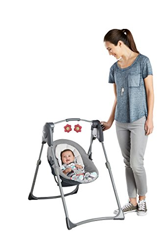 Graco Slim Spaces Compact Baby Swing, Alma by Graco (Image #5)