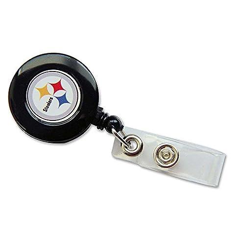 NFL Pittsburgh Steelers Badge Reel - Pittsburgh Steelers Logo Nylon