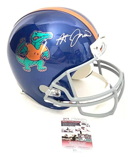 Steve Spurrier Autographed Signed Memorabilia Full Size Custom Helmet Florida Gators Chrome Decals - JSA Authentic (Florida Gators Helmet Decal)