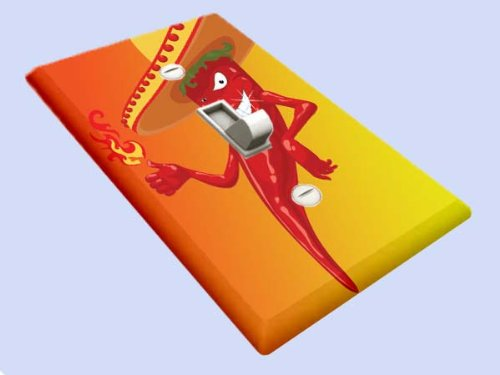- Mexican Chili Pepper Fire Switchplate - Switch Plate Cover