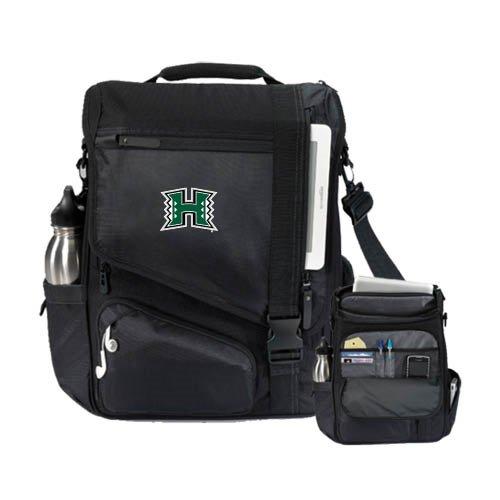 Hawaii Momentum Black Computer Messenger Bag 'Official Logo' by CollegeFanGear