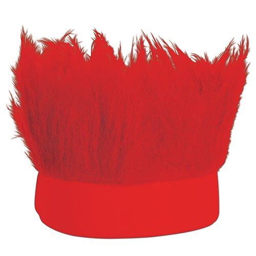 Beistle Hairy Headband (Red [2-Pack])