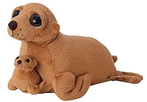 The Petting Zoo Bright Eyes Plush Pocketz Sea Lion- 12 -