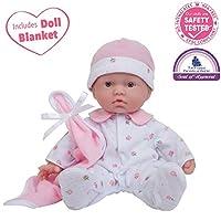 JC Toys, La Baby La muñeca de juegos de cuerpo suave lavable de 11 pulgadas para niños de 12 meses en adelante, diseñada por Berenguer