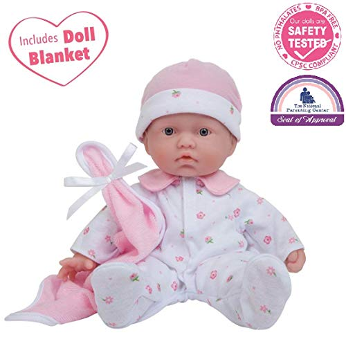JC Toys, La Baby 11-inch Washable Soft Body Play Doll For Children 12 Months and older, Designed by - Baby Made Doll Usa