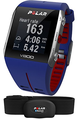 Polar V800 Multi-Sports Running Training Watch with GPS Blue / Red (Polar Red Heart Rate Monitor)