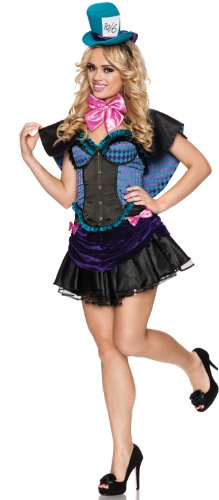Delicious Mad Hatter Costume, Multi, Small (Sexy Mad Hatter Costumes)