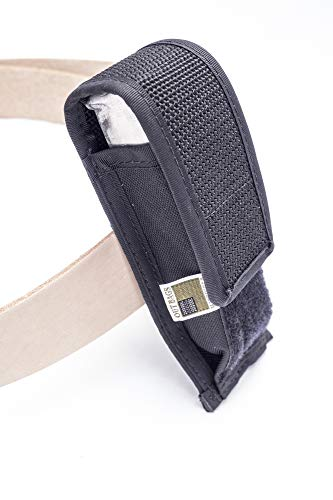 OUTBAGS USA OB-1MPC Solo Magazine Pouch for Compact Clips. Single and Double Stacked 9mm, 40 S&W, 45 ACP 6-10 Round Clips. Family owned & operated. Made in USA (9mm 8 Round Magazine)