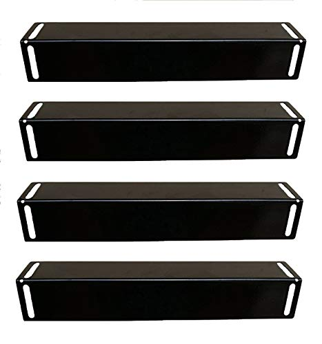 Hongso PPB151 (4-Pack) Porcelain Steel Heat, Heat Shield, Heat Tent, Burner Cover, Vaporizor Bar, and Flavorizer Bar Plate Replacement for BBQ Grillware, Uniflame, Charbroil,Grill Chef and Others