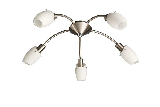 Plafoniere Con Spot : Massive usagi plafoniera spirale spot luci acciaio spazzolato e