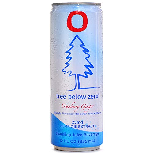 41QVjyAcNfL - Tree Below Zero Sparkling Juice Flavored Hemp Infused Soda, Full Case of 12 12oz cans (Cranberry Ginger)