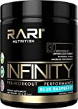 RARI Nutrition - INFINITY - 100% Natural Preworkout Powder for Energy, Focus, and Performance - Men and Women - Vegan and Keto Friendly - No Creatine - 30 Servings (Blue Raspberry)