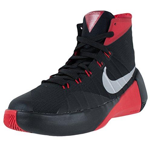 Nike Hyperdunk 2015 (Gs), Zapatillas de Baloncesto para Niños Negro / Plateado (Black / Mtllc Silver-Unvrsty Rd)