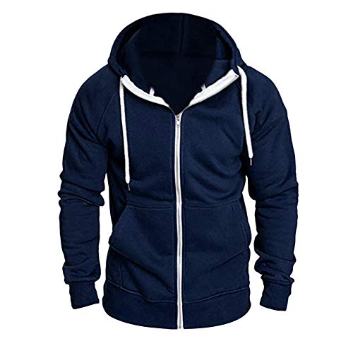 (GOVOW Running Tracksuits for Men with Hoodie Long Sleeve Autumn Winter Casual Sweatshirt Hoodies Top)