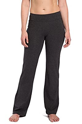 Fishers Finery Women's Ecofabric Bootleg Everyday Yoga Pant with Pockets