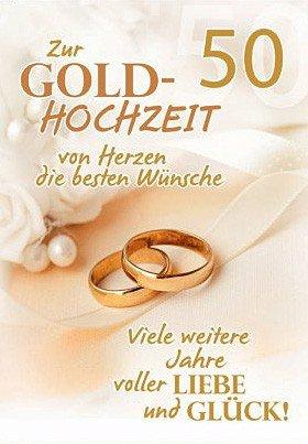 A4 Gluckwunschkarte Goldene Hochzeit 50 Hochzeitstag Viele Weitere