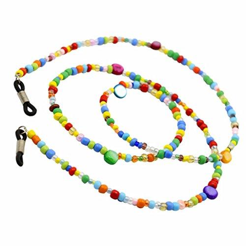 MagiDeal Cordons à Lunettes de Soleil Perles Colorées Porte Chaîne de Lunettes